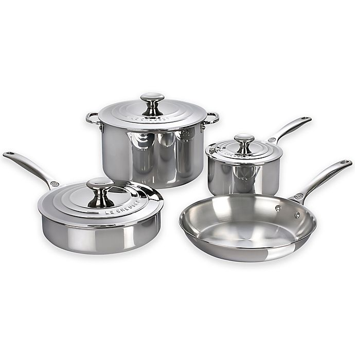 Alternate image 1 for Le Creuset® 7-Piece Stainless Steel Cookware Set