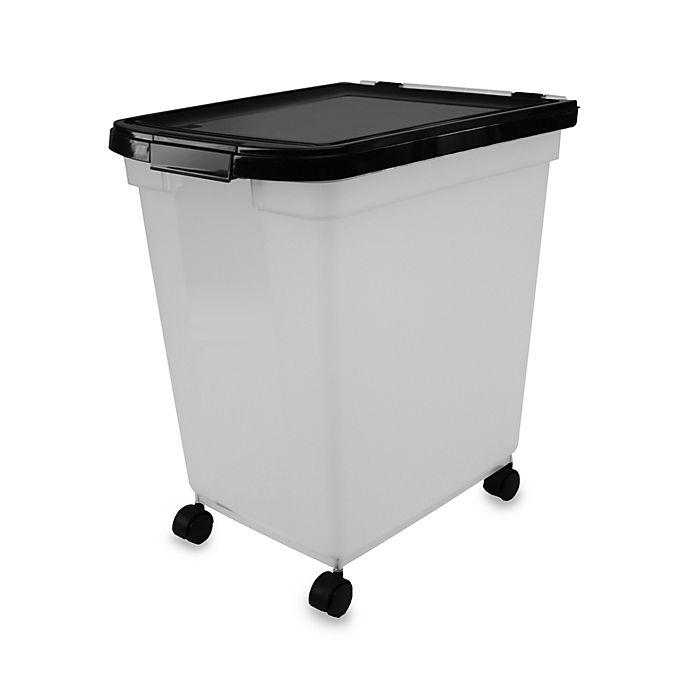 Alternate image 1 for IRIS® 50 lb. Capacity Airtight Mobile Pet Food Storage Container