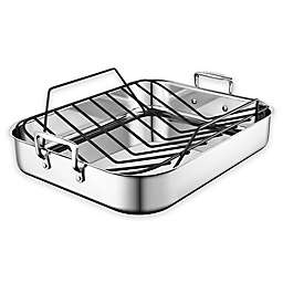 Le Creuset® Stainless Steel Roasting Pan with Nonstick Rack