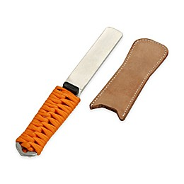 SHARPAL Dual-Grit Diamond Sharpener with Leather Strop in Silver/Orange