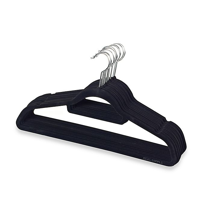 Alternate image 1 for Real Simple® Slimline 12-Count Flocked Suit Hangers