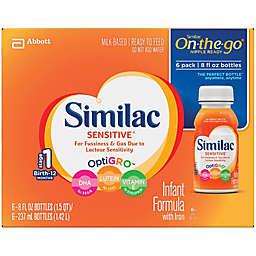 Similac Sensitive® 8 oz. On-The-Go Infant Formula (Pack of 6)