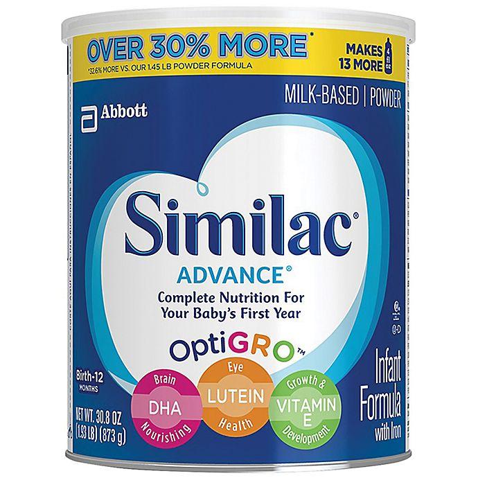 Alternate image 1 for Similac® Advance® 1.93 lb. Powder Infant Formula with Iron