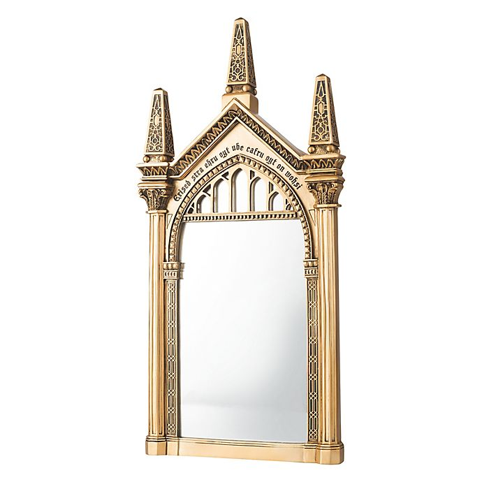 Harry Potter Erised 1122 Inch X 22 Inch Glass Mirror In Gold Bed
