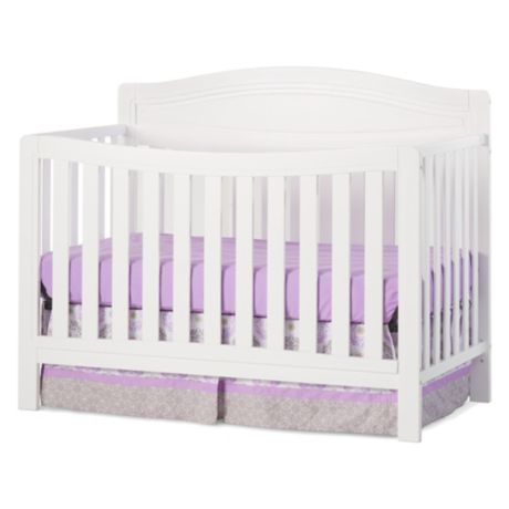 Child Craft Dresden 4-in-1 Convertible Crib in Matte White