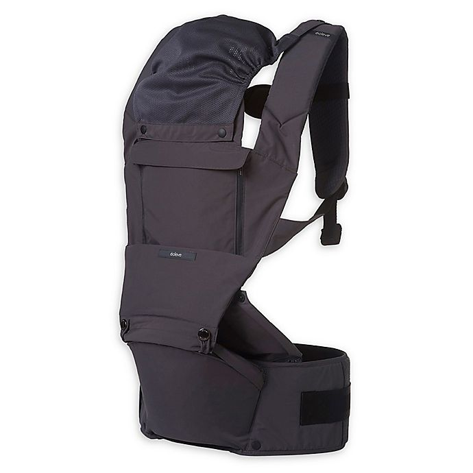 Alternate image 1 for Ecleve Pulse Ultimate Comfort Hip Seat Baby Carrier in Charcoal Grey