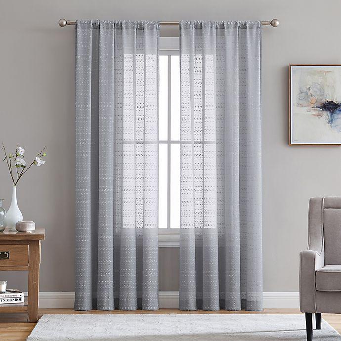 Alternate image 1 for Veratex Berksheer Rod Pocket Window Curtain Panel