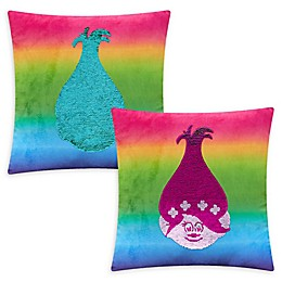 "DreamWorks® ""Trolls"" Sequin Reversible Square Throw Pillow"