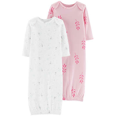 Little Planet™ Organic by carter's® Owl 2-Pack Sleep Gown in Pink