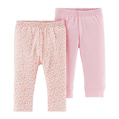 Little Planet™ Organic by carter's® 2-Pack Pants in Pink/Ditsy