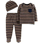 Little Planet™ Organic by carter's® 3M 3-Piece Shirt and Pants Set in Navy