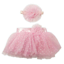 Toby Fairy™ Size 0-12M 2-Piece Swiss Dot Tutu and Headband Set in Pink