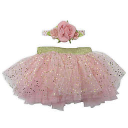 Toby Fairy™ 2-Piece Starry Rose Tutu and Coral Headband Set