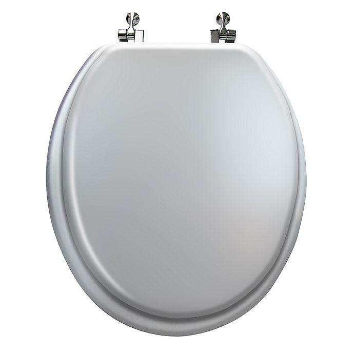 Peachy Ginsey Round Toilet Seat In Silver Wood Machost Co Dining Chair Design Ideas Machostcouk