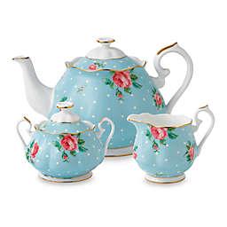 Royal Albert Polka Blue 3-Piece Tea Set