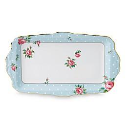 Royal Albert Polka Blue Vintage Sandwich Tray