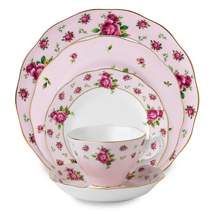 Alternate image 1 for Royal Albert New Country Roses Dinnerware Collection in Pink