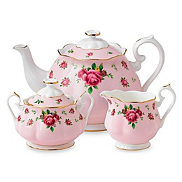 Royal Albert New Country Roses 3-Piece Tea Set in Pink
