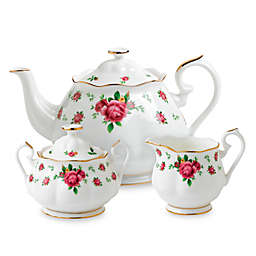 Royal Albert New Country Roses 3-Piece Tea Set in White