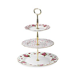 Royal Albert New Country Roses 3-Tier Server in White