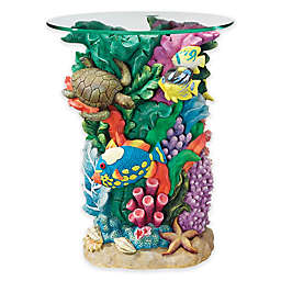 Design Toscano Great Barrier Reef Glass-Topped Table