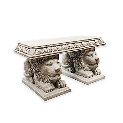 Design Toscano Grand Lion of St. John's Square Sculptural Bench