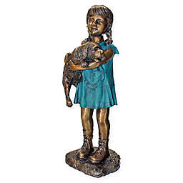 Design Toscano® Can I Keep Him? Cast Bronze Garden Statue