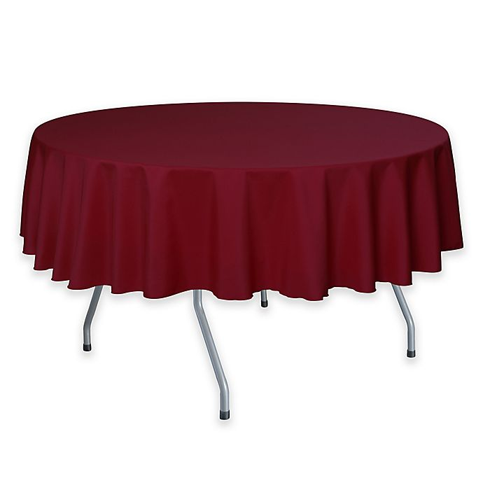 Alternate image 1 for 72-Inch Round Polyester Tablecloth in Holiday Red