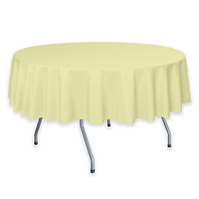 Alternate image 1 for 72-Inch Round Polyester Tablecloth in Maize Yellow