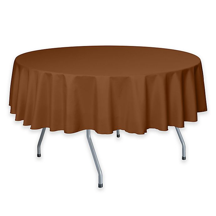 Alternate image 1 for 72-Inch Round Polyester Tablecloth in Copper