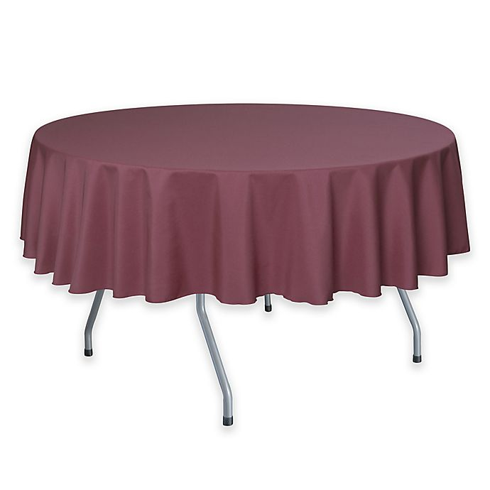 Alternate image 1 for 72-Inch Round Polyester Tablecloth in Mauve