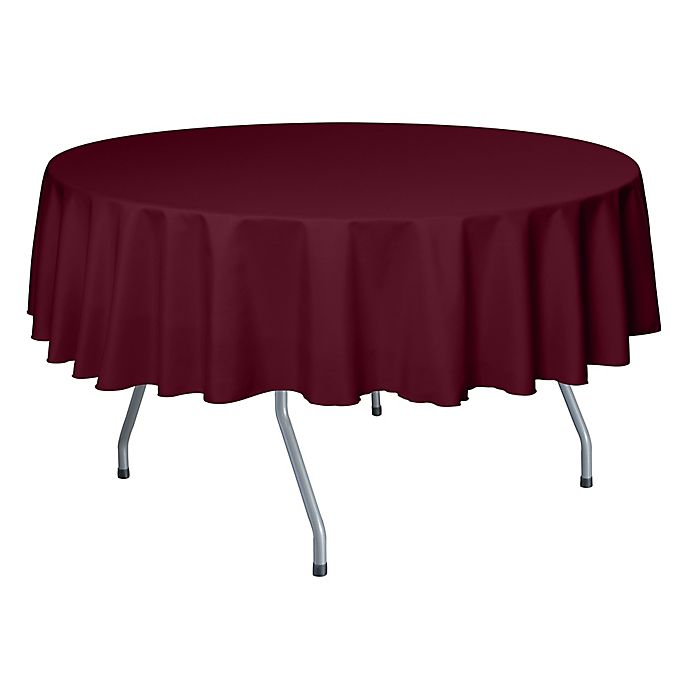 Alternate image 1 for 72-Inch Round Polyester Tablecloth in Brick Red