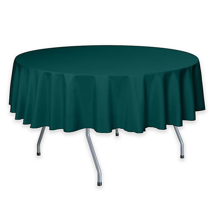 Alternate image 1 for 72-Inch Round Polyester Tablecloth in Teal