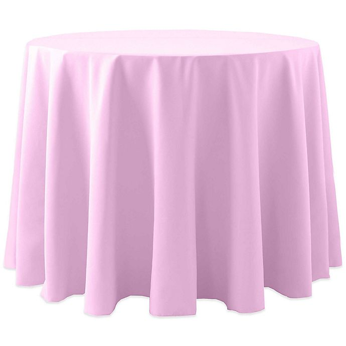 Alternate image 1 for Spun Polyester 60-Inch Round Tablecloth in Light Pink