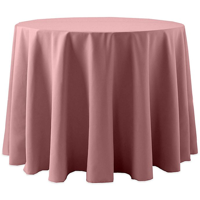 Alternate image 1 for Spun Polyester 60-Inch Round Tablecloth in Dusty Rose