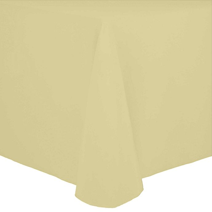 Alternate image 1 for 70-Inch x 104-Inch Oval Spun Polyester Tablecloth in Cornsilk Yellow