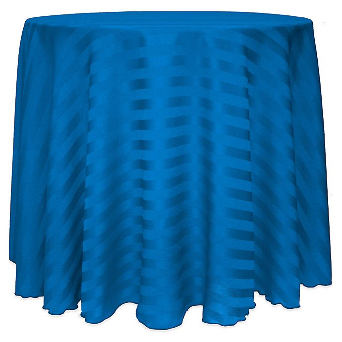 Alternate image 1 for Satin-Stripe 60-Inch Round Tablecloth in Cobalt