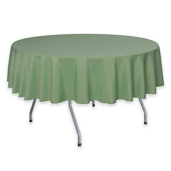 Alternate image 1 for Solid  60-Inch Round Tablecloth in Sage Green