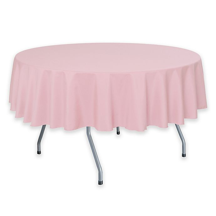 Alternate image 1 for Solid  60-Inch Round Tablecloth in Light Pink