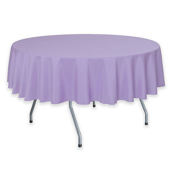 Alternate image 1 for Solid  60-Inch Round Tablecloth in Lilac