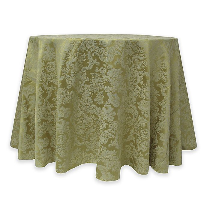 Alternate image 1 for Miranda Damask 72-Inch Round Tablecloth in Sage Green