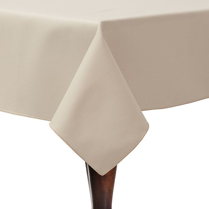 Alternate image 1 for Twill 52-Inch x 70-Inch Oblong Tablecloth in Beige