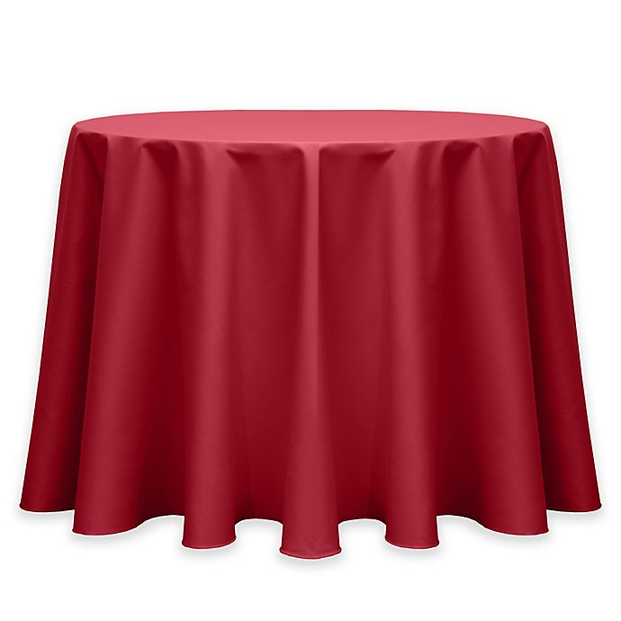 Alternate image 1 for Twill 72-Inch Round Tablecloth in Red