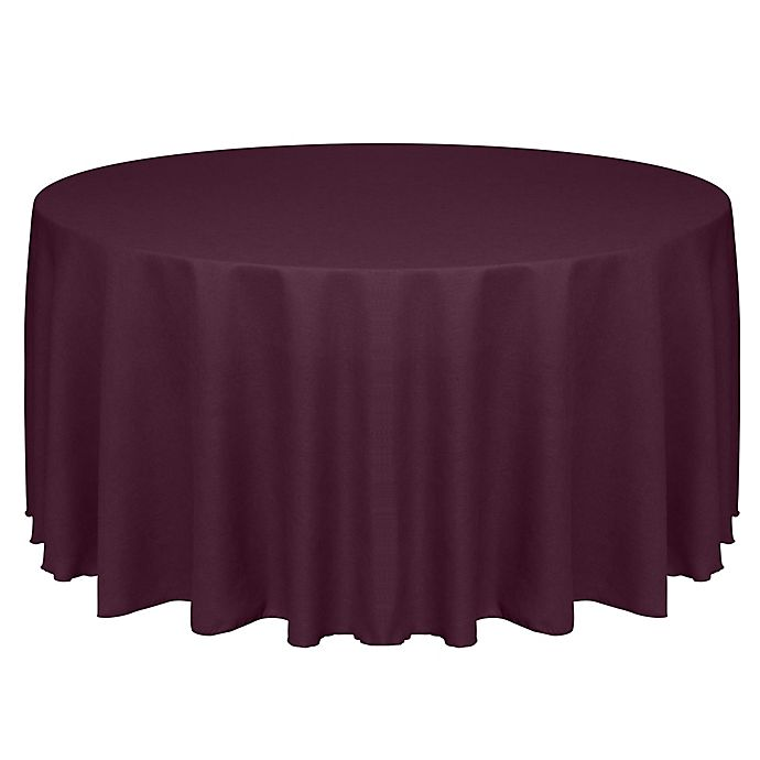 Alternate image 1 for Havana 72-Inch Round Tablecloth in Burgundy