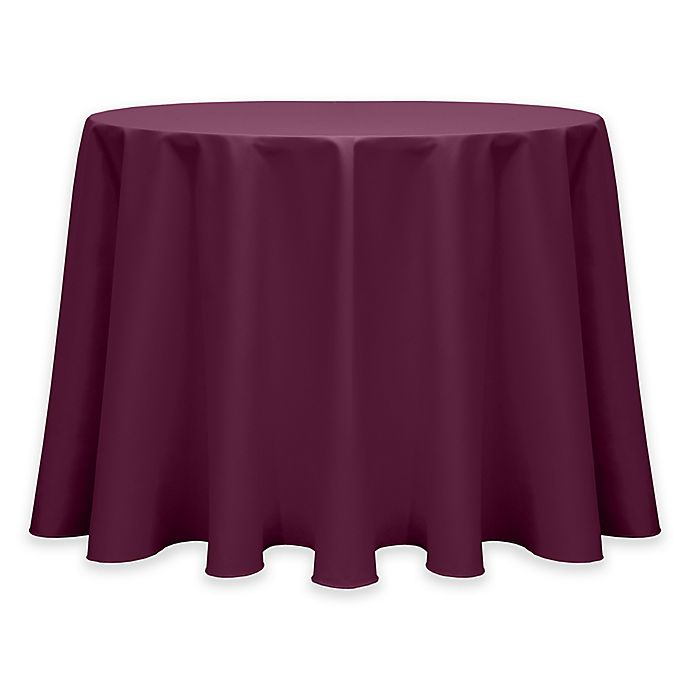 Alternate image 1 for Twill 60-Inch Round Tablecloth in Burgundy Dark Red