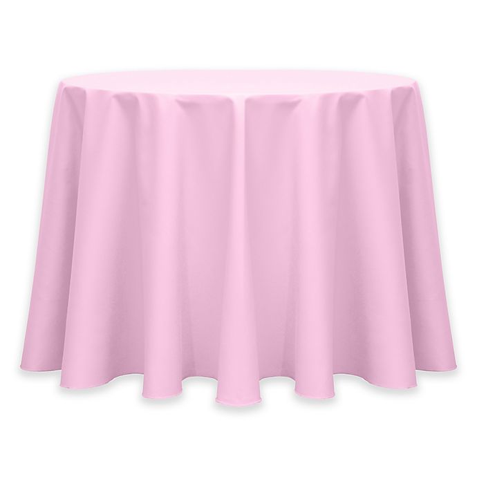 Alternate image 1 for Twill 60-Inch Round Tablecloth in Pink