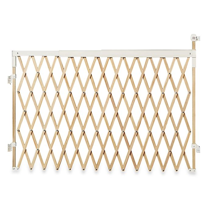 Munchkin Extra Wide Expanding Wood Gate Bed Bath Beyond