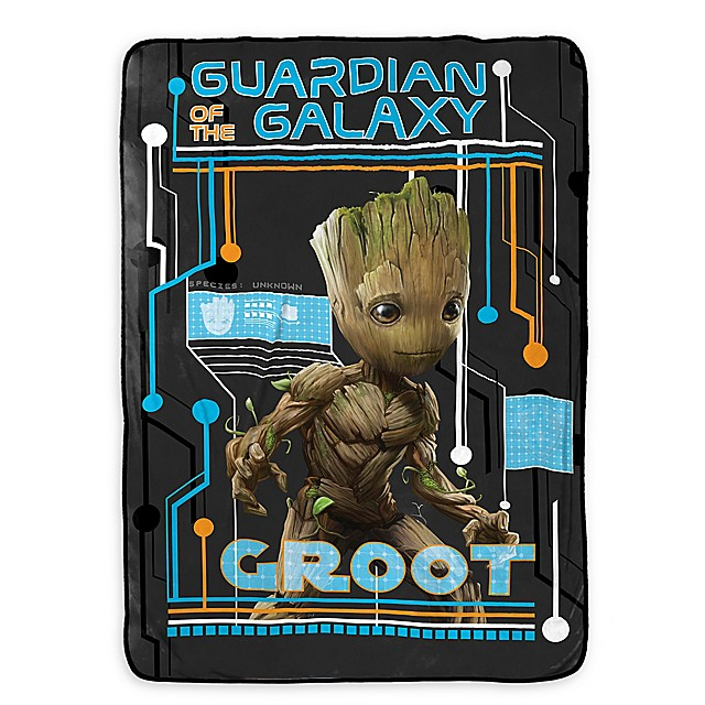 2a5c19c578a6 Marvel® Guardians of the Galaxy Groot Twin Blanket in Black/Blue