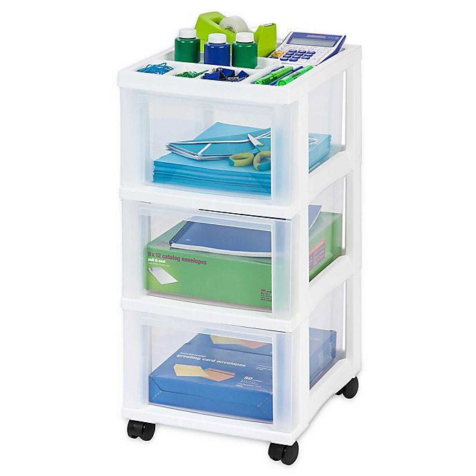 Alternate image 1 for IRIS® 3-Drawer Rolling Storage Cart