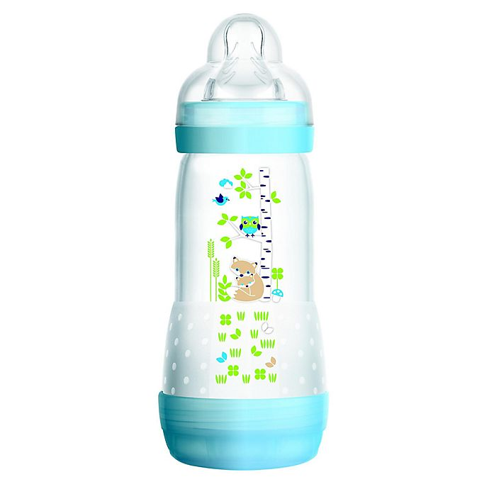 Alternate image 1 for MAM 9 oz. Anti-Colic Bottle in Blue